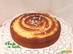 Torta girella con crema pasticcera la ricetta
