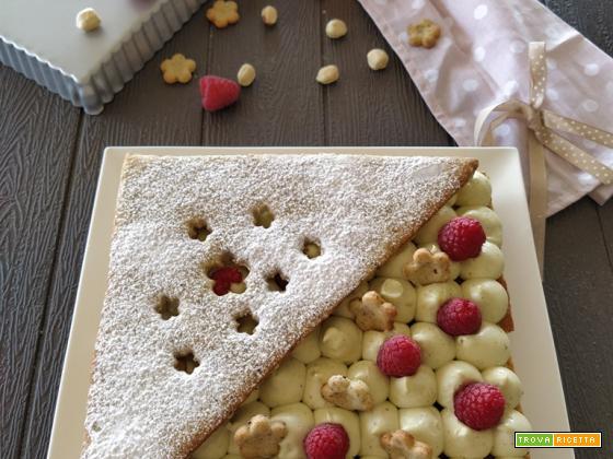 Crostata moderna con Namelaka al pistacchio