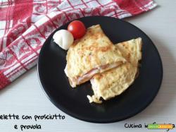 Omelette con prosciutto e provola