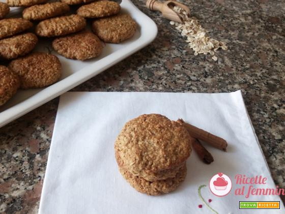 Biscotti ai fiocchi d'avena con il bimby