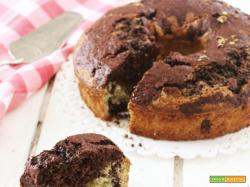 Chiffon cake marmorizzata al pistacchio