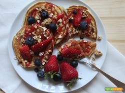 Pancakes soffici di soli albumi e yogurt