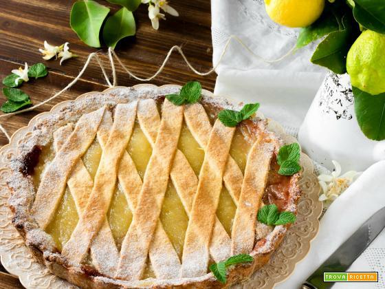 Crostata al miele con crema al limone