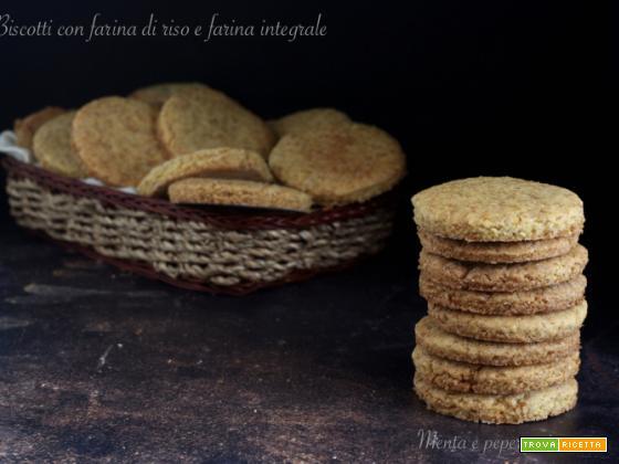 Biscotti con farina di riso e farina integrale