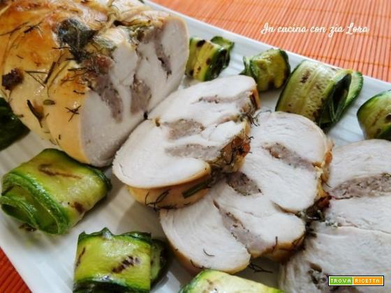 Petto di pollo in porchetta squisito