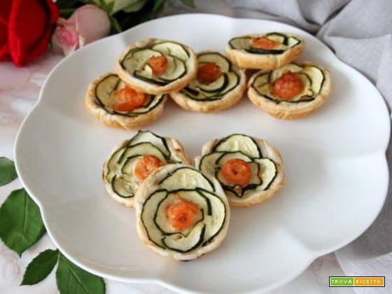 Roselline di sfoglia con zucchine, un antipasto unico!