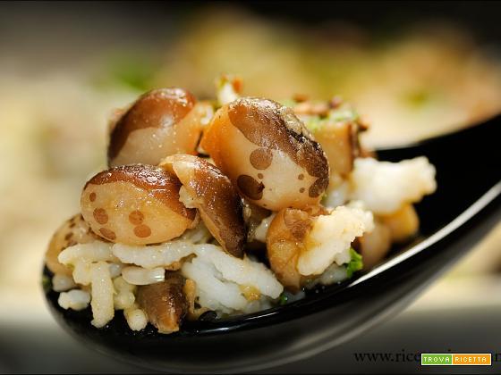Fagioli Yin e Yang con Basmati e funghi