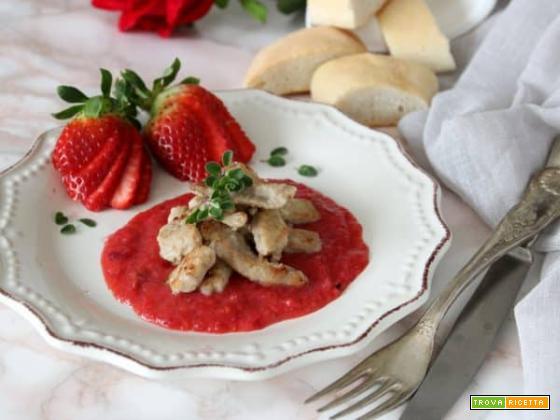 Straccetti di vitello con salsa alle fragole, un piatto unico