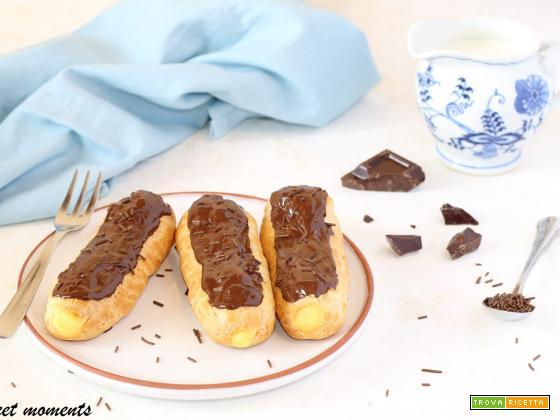 Eclair con crema pasticcera