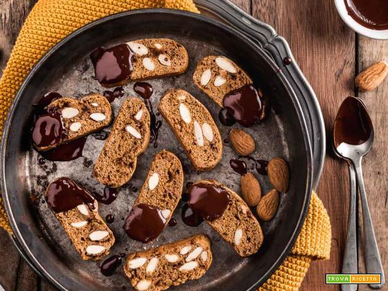 CANTUCCI VEGANI INTEGRALI – Biscotti alle Mandorle Senza Burro | VEGAN ALMOND BISCOTTI Cantuccini