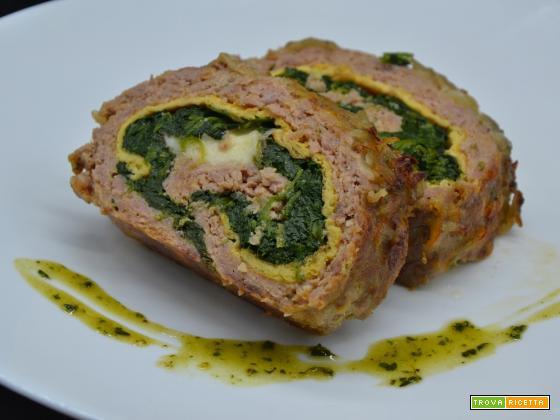 Ricetta – Polpettone con spinaci e frittatina