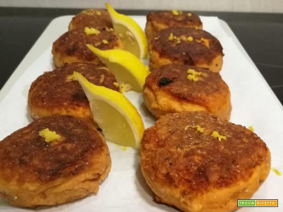 Polpette di salmone al profumo di limone