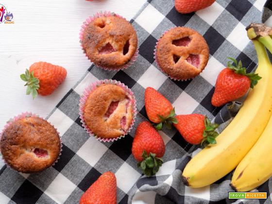 Muffin vegani banana e fragole