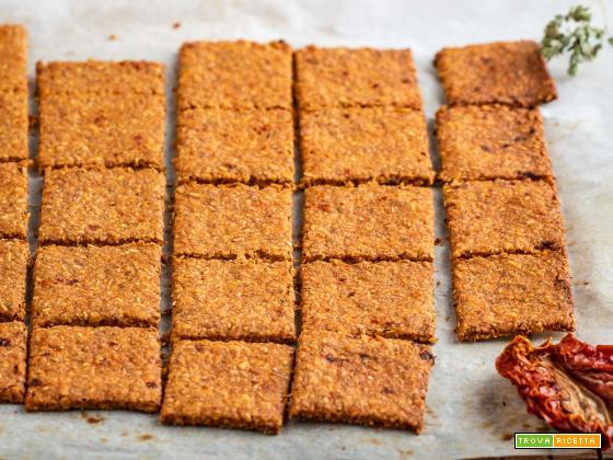 CRACKERS ai POMODORI SECCHI senza lievito | GF Vegan Sun Dried Tomato Crackers