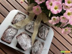 Mini plumcake cacao e gocce di cioccolato - ricetta passo passo