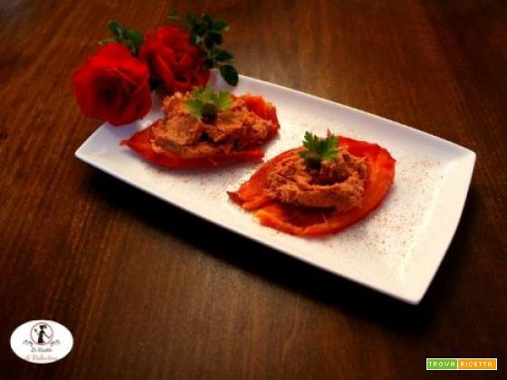 Peperoni arrosto in friggitrice ad aria con salsa all'antica