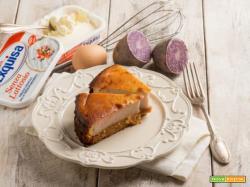 Cheesecake di patate viola, una variante interessante