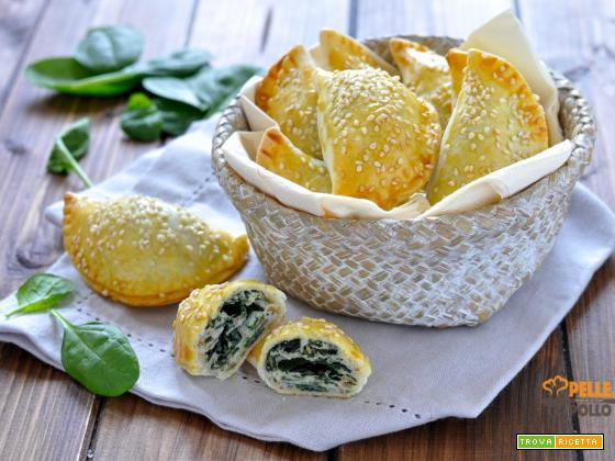 Panzerotti al forno con ricotta e spinaci