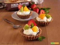 Tartellette alla Frutta con Biscotti Saraceni di Inglese