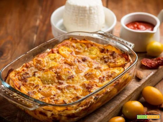 Lasagne al pesto rosso e pomodorini, una deliziosa variante