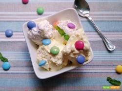 Gelato con smarties senza gelatiera