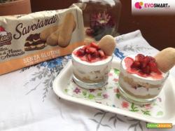 Zuccotto alle fragole  a cucchiaio : senza glutine e lattosio