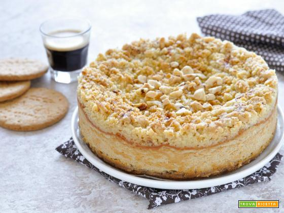 Cheesecake al caffè con crumble