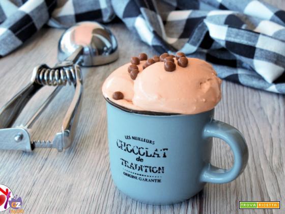Gelato al cioccolato al latte