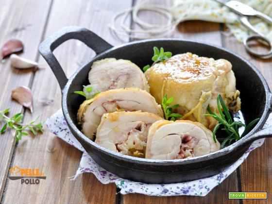 Sovracosce di pollo ripiene con pancetta e provola