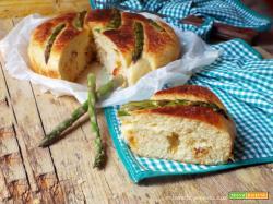 Torta salata asparagi e salame