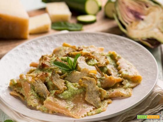 Pappardelle con crema di zucchine: da leccarsi i baffi