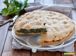 Torta rustica ripiena di spinaci con farina integrale