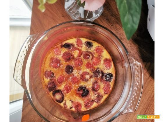 Clafoutis alle ciliegie senza glutine e lattosio