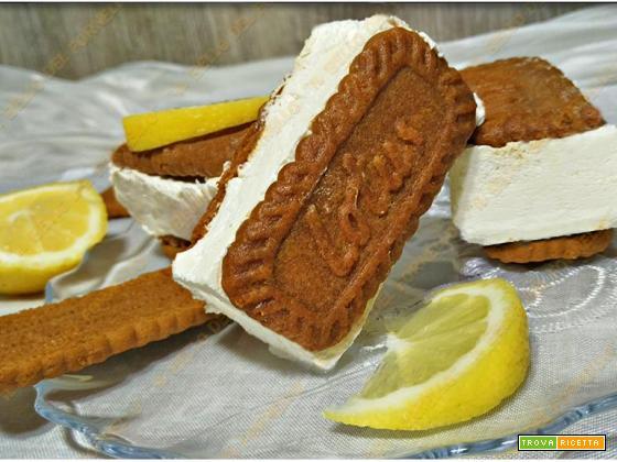 Gelato biscotto con crema al limone