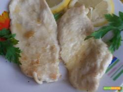 Scaloppine di pollo in salsa al limone