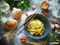 Tagliatelle con Funghi Shitake