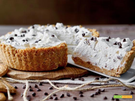Crostata Fredda al Mascarpone e Gocce di Cioccolato