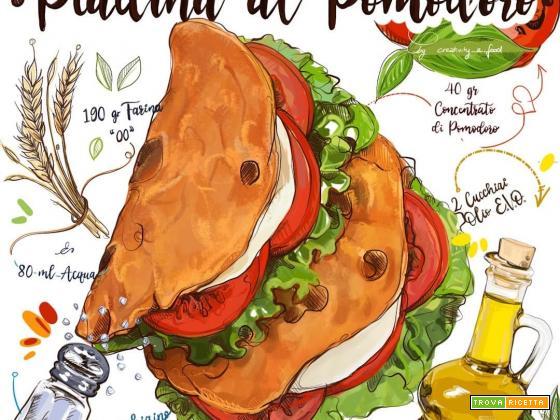 Le vostre ricette disegnate da Daria Rosso: ecco la piadina di Sabrina
