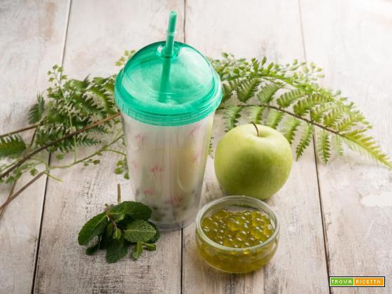 Bubble tea alla mela verde, un classico taiwanese