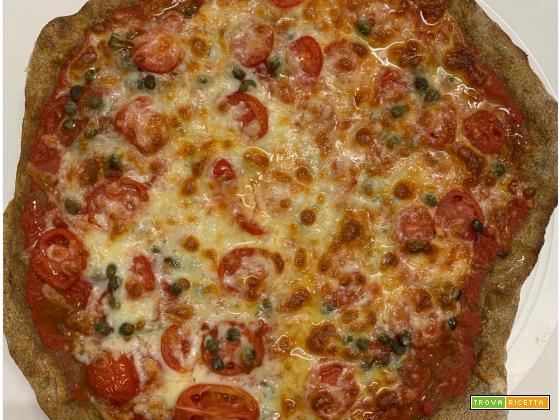 Pizza tonda fatta in casa come in pizzeria, con farina Tibiona 50 sfumature di cereali, da cuocere in giornata o con maturazione in frigo anche di 3 giorni