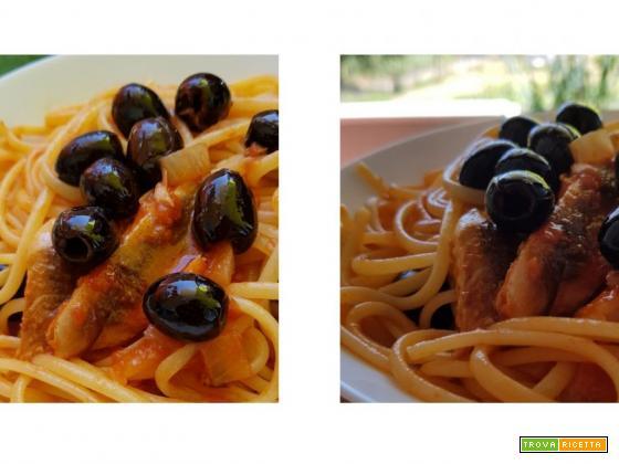 Linguine sgombro e olive