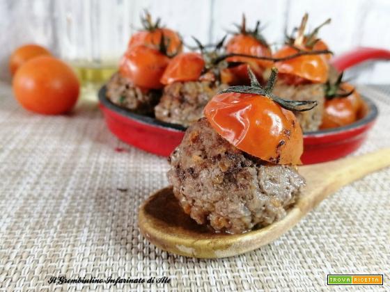 Polpette al forno con pomodorini