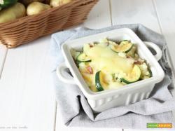 Sformato di patate filante alle zucchine