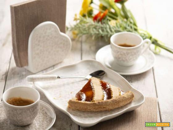 Crostata con confettura di ciliegie, la merenda perfetta