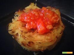 Cupcake di zucca spaghetti al rag