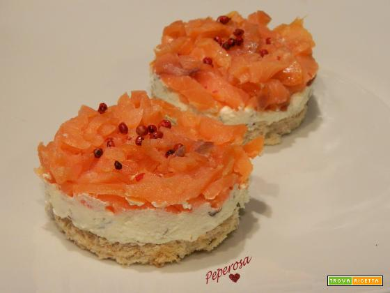 Mini cheescake al salmone