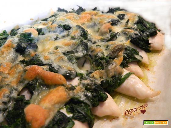 Pollo agli spinaci con patate