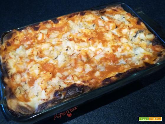 Lasagne di pesce al kamut