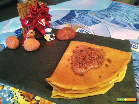 Crepes Ferrero Rocher e biscotti all'arancia