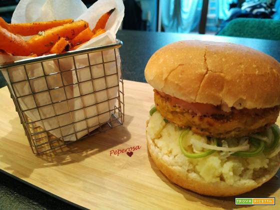 Fishburger di cernia e patatine dolci